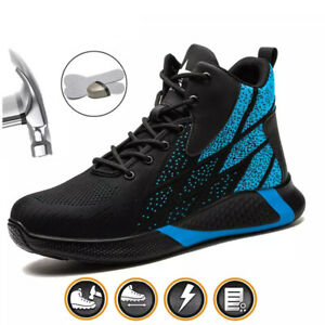 Mens Safety Shoes Lightweight Sports Trainers Womens Work Steel Toe Ankle Boots