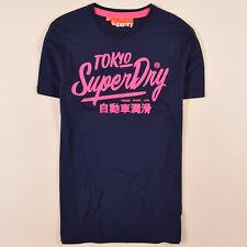 Superdry Herren T-Shirt Shirt Classic Gr.L Navy Blau, 71812