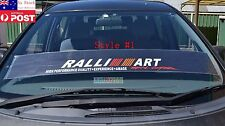 Ralliart Racing Windshield Against Sun Reflective Mitsubishi Car Sticker 130cm