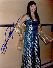 Xena photo photograph auto autographed signed by Lucy Lawless coa Lucy in blue