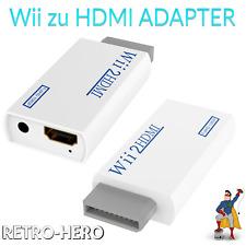 Wii zu HDMI Adapter Konverter Stick 1080p Full HD TV Audio 3,5mm Kabel Anschluss