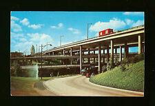 Network of Freeways Near Civic Center - Four Level Interchange - Los Angeles