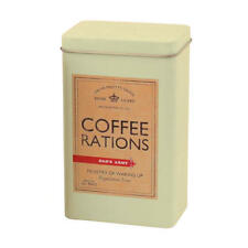 DADS ARMY COFFEE RATIONS TIN CANISTER RETRO KITCHEN STORAGE TV FILM VINTAGE WAR