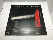 1986 Cadillac Eldorado 16-page Large Car Sales Brochure Catalog