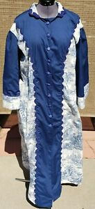 Morning Wrapper or Dressing Gown Reproduction 1830-1870's  Style Size 16-18 New