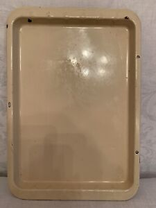 Vintage Baking Tray 1950s Thick Metal Cream Colour