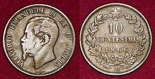 ITALY Italia Italie 10 centesimi 1866M Vittorio Emanuele II