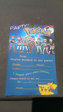 Birthday Party Invitations Pokemon Party 4X6 with Envelopes 25 Pack
