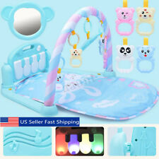3 in 1 Baby Kids Cute Playmat Toy Musical Pedal Piano Activity Fitness Gym Mat