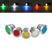 19mm LED Metal Signal Indicator Dashboard Warning Light Lamp Panel Car Boat 12V