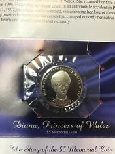 1997 Princess Diana of Wales $5 Memorial Coin  Minted in Marshall Islands