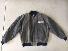 Rare Mens Dallas Cowboys VTG Grey Leather Varsity Bomber Jacket DSJ 69 Rugby