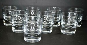 (SET OF 8) PROFESSIONAL HEAVY WEIGHT FLUTED WHISKEY GLASSES WITH FILL LINE