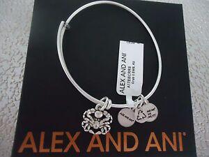 ALEX and ANI CRAB II Rafaelian Silver Bangle New W/ Tag Card & Box