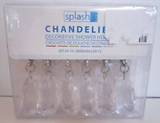 1 pack of 12 hooks Splash Home Shower Curtain Hooks Acrylic Chandelier