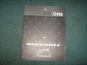 Marantz Turntable Model TT440 Service Manual 20 page Good Condition