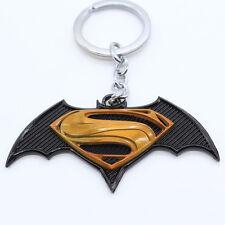 Superman Vs Batman Keyring Keychain Keyfob Key Ring +++ Necklace & Pendant Clasp