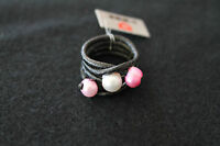 LEATHER RING WHITH PEARL / RRP~20€ / -10€ OFF!!!