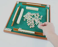 Mini Mahjong Mahjongg Mah Jong Jongg Set + Travel Table American/Traditional ok