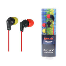 Sony MDR-EX35LP Red/Lime powerful sound EX Style Headphones MDREX35LP