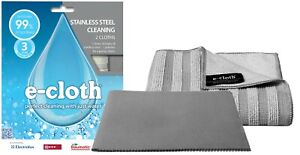 E-Cloth Stainless Steel Pack 2 Microfibre Clean & Polishing Cloths No Chemicals