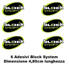 6 ADESIVI antifurto Block System sticker auto moto camion camper gps tracker