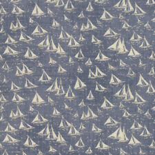 Janet Clare Ebb and Flow Cowes Light Blue Ocean 1480 21 Moda Quilting Cotton
