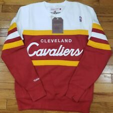 Cleveland Cavaliers Mitchell & Ness NBA Head Coach Crew Sweatshirt Burgundy