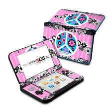 Nintendo 3DS XL Skin - Peace Flowers Pink by Juleez - Decal Sticker DecalGirl