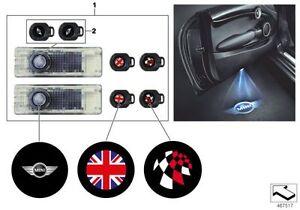 MINI Genuine LED Door Projectors Logo Emblem Light 63312414106 LLOYD CARLISLE