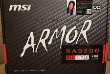 MSI Radeon RX 470 Armor 4GB GDDR5 OC Edition Graphics Card **FREE SHIPPING**