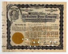Baldwin Piano Co of Indiana Stock Certificate