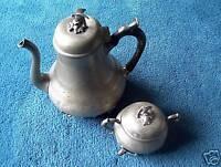 Zinnkanne Zinn Kanne Kaffeekanne Zuckerdose 100 Jahre