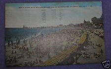 BEACH SCENE ATLANTIC CITY, NJ POSTCARD 1952
