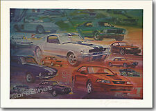 """REDUCED Production Mustangs 24""""x18"""" signed by artist George Bartell"""