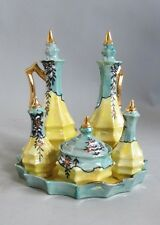 Superb Japanese Lusterware Cruet Set  c. 1940   MINT & COMPLETE  Nippon     vase