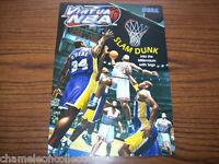 VIRTUA NBA  By SEGA 1999 ORIGINAL NOS VIDEO ARCADE GAME MACHINE FLYER BROCHURE