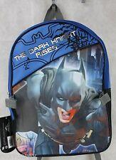 Batman The Dark Knight Rises Blue BookBag Backpack Lunch Bag Combo 15x11x4 NWT