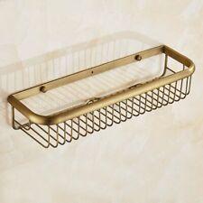 Vintage Brass Wall Mounted Bathroom Shelf Soap / Sponge Shower Storage Basket