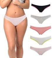 Women's Underwear Bikini Cotton Packs of Panties Color and Patterns Lot May Vary
