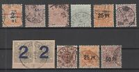 X2351/ GERMANY – WURTEMBERG – 1881 / 1919 USED CLASSIC LOT – CV 270 $