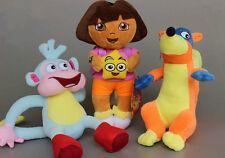 3 DORA The Explorer Swiper Fox Boots The Monkey Soft Plush Toy Stuffed Doll Gift