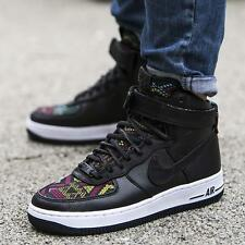 Mujeres Nike Air Force 1 Hi Top BHM QS Zapatillas tamaño de Reino Unido 6.5 Negro