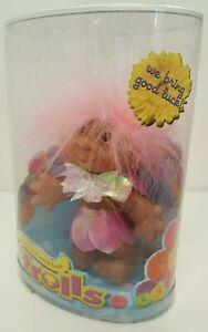 Original Good Luck Troll DAM Doll 2006 New NOS 63800 Pink Fairy Sparkle Dress 6+