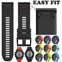 Silicone Quick Install Band Easy Fit Wrist Strap For Garmin Fenix 3 5 5X Plus~