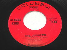 """Claude King """"Juggler/I Won't Be Long In..."""" 45 RPM, 1966 Country, 7"""" Single, VG+"""