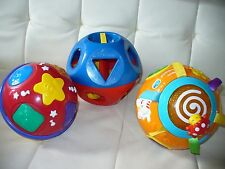 Educational learning musical toy rolling ball, teaching shapes lot of 3