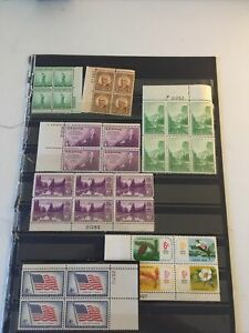 Us Mint With plate Blocks Better Earlier Items Most Nh Couple Parks  E-83