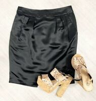 Ted Baker Black 100% Silk Mini Skirt Size 12 (3) Occasion Fashion