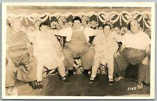 FAT PEOPLE GROUP ANTIQUE REAL PHOTO POSTCARD RPPC SIDESHOW FREAKS